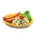 Würstchen und Kartoffelsalat